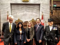 Dr. Pottie enjoyed a fulsome discussion with Senators Deacon and Kutcher accompanied by April Schwanz of Strongest Families. It was an honour including enjoying the ceremony of Parliament Hill and the Usher of the Black Rod of the Canadian Senate.
